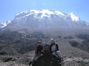Natalie and Meredith on Mount Kilimanjaro
