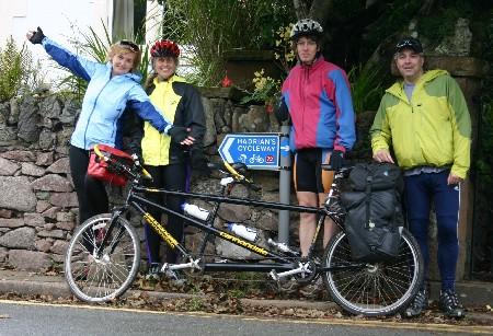 Start of Hadrian's Cycleway in Ravenglass, UK