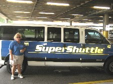 Super Shuttle van at TPA airport