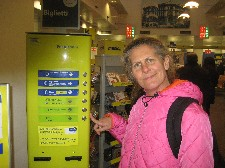 Diane is puzzled by the number dispenser
