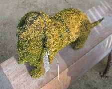 topiary dachshund with moss