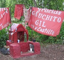 Roadside chapel for Gauchito Gil