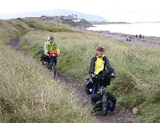 Hadrian's Cycleway on shore of IrishSea