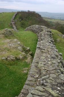 Hadrian's Wall at Walltown Crags near Greenhead,England