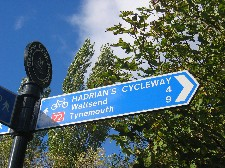 Sign near east end of Hadrian'sCycleway