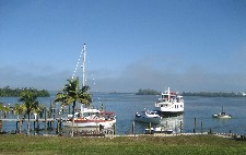 View from patio on harbor of Cabbage Key