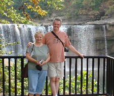 Jan and Bill Sides at Cumberland Falls State Resort Park
