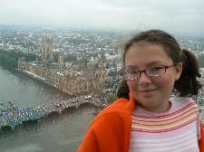 Hannah on the London Eye