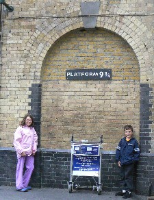 Hannah and Timmy on Platform 9 3/4