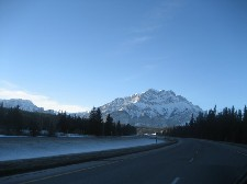Road leading to Banff, AB,Canada