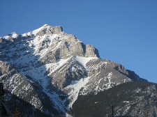 Peaks of the Rocky Mountains as seen from Banff center