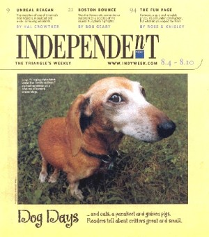 Front page Independent (4-Aug-04) with Lucy