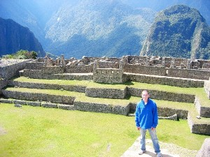 Andrew Hass at Machu Picchu, Peru; CLICK TO ENLARGE