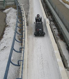 Bobsleighing in Canada Olympic Park