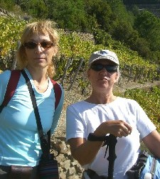 Caroline Roy and Janis Owens in Cinque Terre