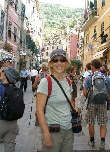 Caroline Roy in Vernazza