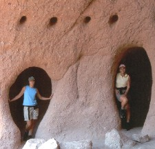 Carol Carver and Nancy Camposano at Puerto Indian Caves