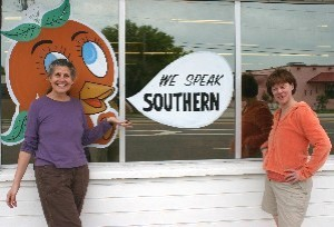 Diane (left) speaks Southern