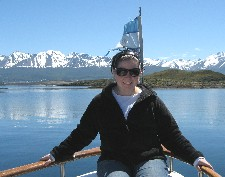 Nicole Falzone in Ushuaia, Argentina in the Beagle Canal