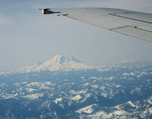 Diane's reward - A view of Mount Rainier