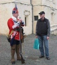 John Mather (right) with a tour guide at Stirling Castle