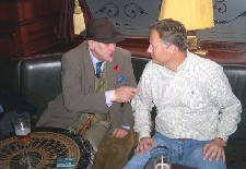 Scott Anderson (right) meets regular visitor at the Edinburgh pub the Guildford Arms