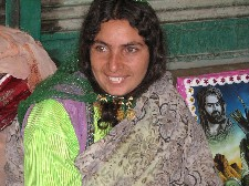 A nomad (not Muslim) woman at bazaar in Isfahan, Iran