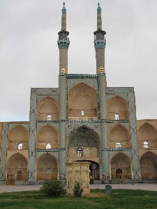 The Jameh Mosque in Yazd, Iran