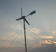 Wind turbine at campsite of Assateague State Park