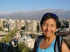 Chris Santos atop Cerro Santa Lucia overlooking Santiago