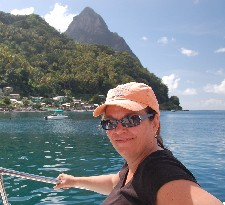 Carla Ramos with Petit Piton peak in the background