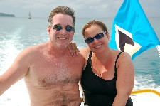 Gene Hunt and Carla Ramos, in Rodney Bay, St. Lucia