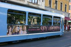 Ad for Sex and the City on tram