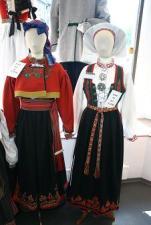Regional traditional folk costumes for sale at Husfliden