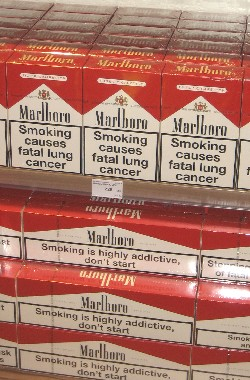 warning labels on cigarette packages
