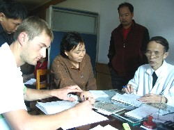 Hudson Doyle in Zhejiang Hospital of Traditional Chinese Medicine in Hangzhou, China