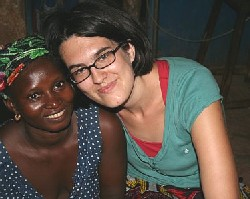 Sali Diarra (left) and Caitlin Cohen. Sali moved to Mali from Burkina Faso and was the host-sister for Caitlin in Mali.