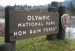Entrance of Olympic National Park