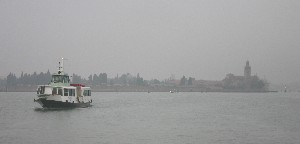 Ferry from Venice to Murano on a grey fall day