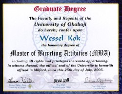 Wessel's MBA (Master of Bicycling Activities)