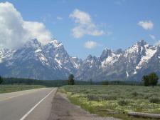 The Teton Range on day 23 of Judy Martell's bike ride