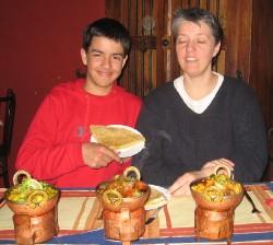 Valentin and Thamar in Surinam restaurant in Wageningen (Click to ENLARGE)