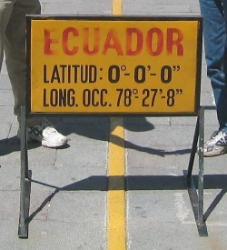 Ecuador is located on the equator