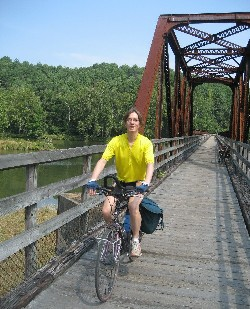 Wessel cycles on bridge across the New river