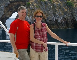 Tom Schultz and Shelley Reeves in Mergui Archipelago, Burma