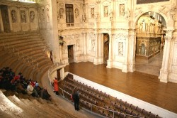 The Teatro Olimpico was designed by Andrea Palladio as his last work and inaugurated in 1585
