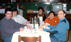 Enrico, Mariella, mother Valenza, Eloisa and Federico (Click to ENLARGE)