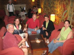 John Charest, Diane Charest, Stan Cheika, Carm Provost, Pam Trett at the Port Wine Institute in Lisboa