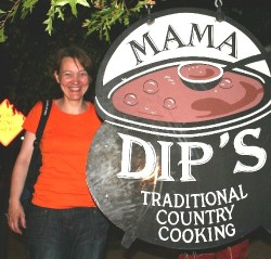Susan Guerber from Switzerland, enjoyed Dip`s chicken 'n' dumplings in 2008
