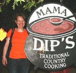 Susan Guerber from Switzerland, enjoyed Dip`s chicken 'n' dumplings in 2008